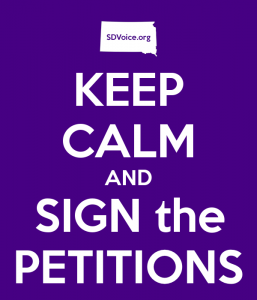 Keep Calm and Sign the PetitionS SDVoice